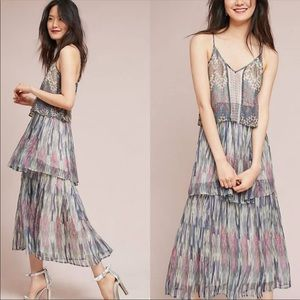 🆕NWT Anthropologie ruffled bohemian maxi dress